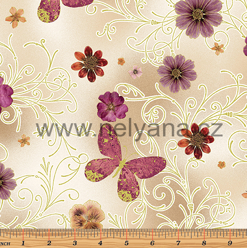 PRESSED BUTTERFLIES BEIGE