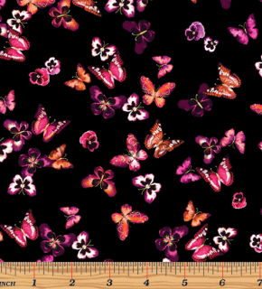 MINI BUTTERFLIES BLKBERRY